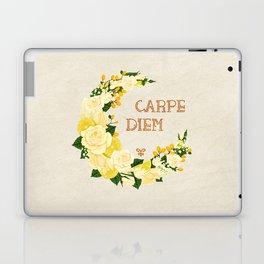 Crescent Bloom | White roses , lemons n lilies  Laptop & iPad Skin