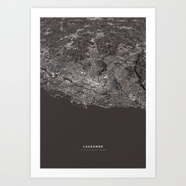 Lausanne - city map Art Print