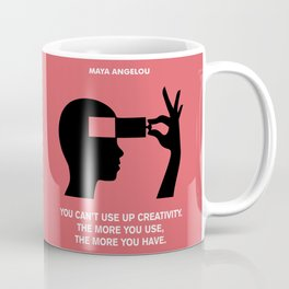 Lab No. 4 - Creativity Maya Angelou Motivational Quotes Poster Coffee Mug