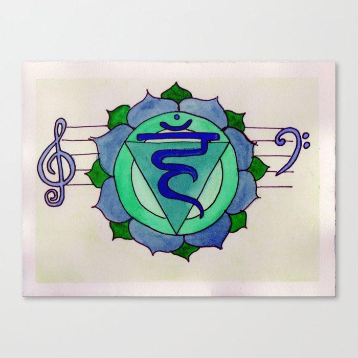 Throat Chakra  Canvas Print