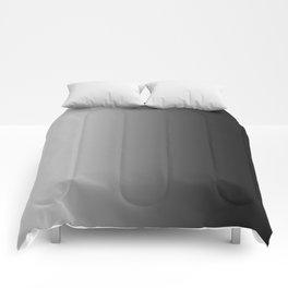 Gray to Black Vertical Linear Gradient Comforters