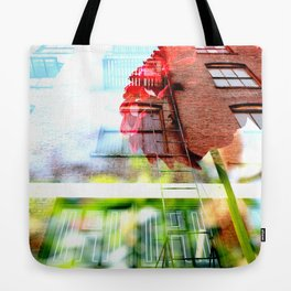 Six Story Dahlia Tote Bag