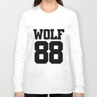 exo Long Sleeve T-shirts featuring EXO WOLF 88 by Cathy Tan