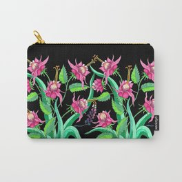 The Zoe in black Carry-All Pouch