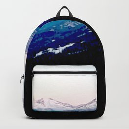 Mountain views abstracted to color blocks Backpack