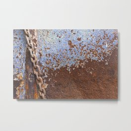 Blue Rust Metal Print