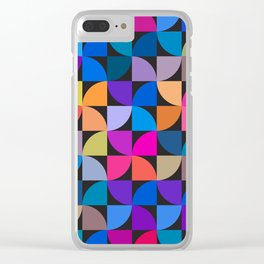 Colorful geometric Clear iPhone Case