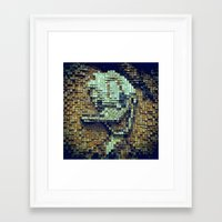 donald duck Framed Art Prints featuring Donald Duck by DisPrints
