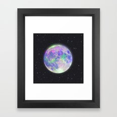 pink moon Framed Art Print