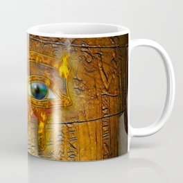 The Prophecy of Fire - Ancient Egypt Eye of Horus Coffee Mug