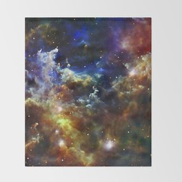 Cradle of Stars Throw Blanket