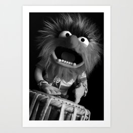 """""""Animal on the Tabla"""" Art Print"""