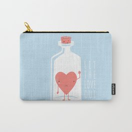 Let the LOVE Out Carry-All Pouch