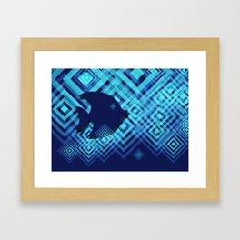 Blue Fish Angel Anglers Angles Framed Art Print