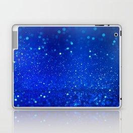 Abstract blue bokeh light background Laptop & iPad Skin