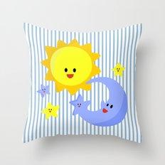 good morning, good night Throw Pillow