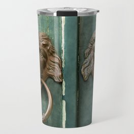 Lion heads of precious metal Travel Mug