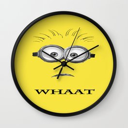 Despicable Minion -Whaat Wall Clock
