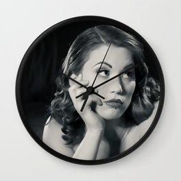 """Bored Now"" - The Playful Pinup - Modern Boudoir with Piercing by Maxwell H. Johnson Wall Clock"