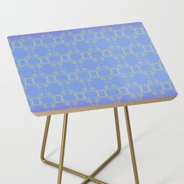 Hand drawn Seed Pods golden yellow blues Side Table