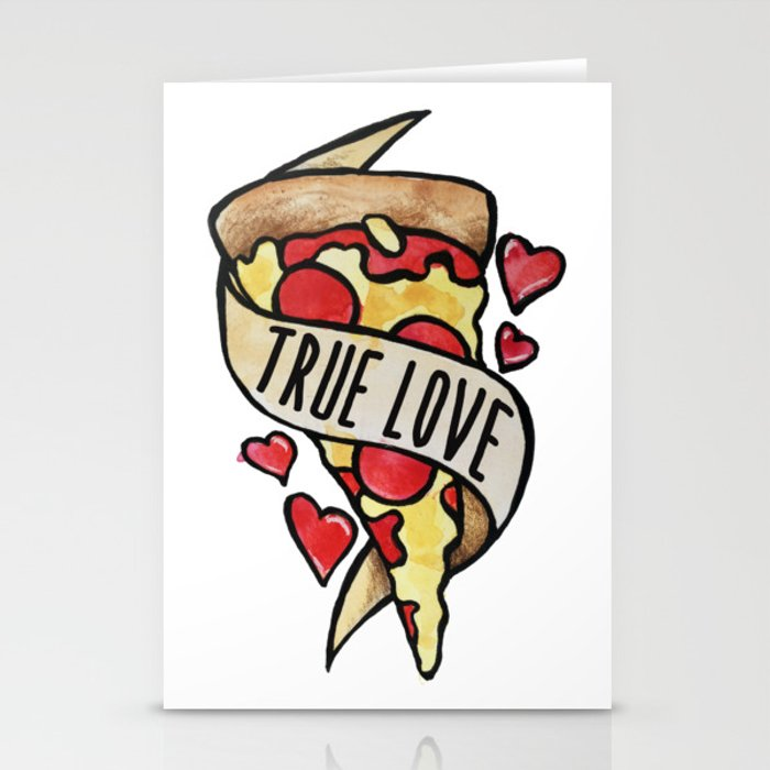 Pizza True Love Stationery Cards