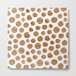 Chocolate Chip Cookie Pattern Metal Print
