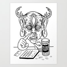 death is a junkie Art Print