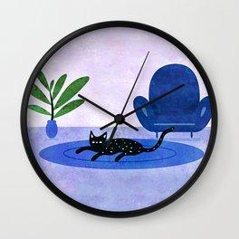 Lazy Weekend Wall Clock