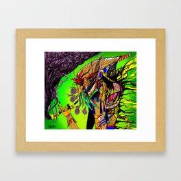 Smoker Shaman Framed Art Print