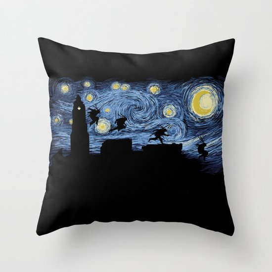 Starry Fight Throw Pillow