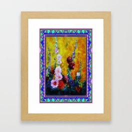 Hollyhock Painting in a Western Style Art Design Framed Art Print