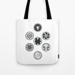 Factions black & white Tote Bag