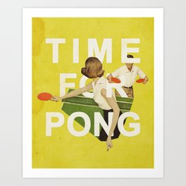 Time For Pong Art Print