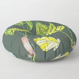 milkweed with friends Floor Pillow