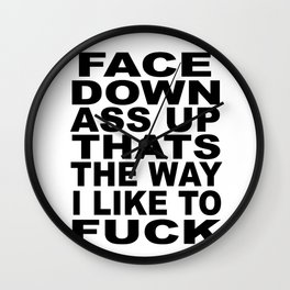 Face Down Wall Clock