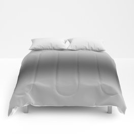 Gray to Black Horizontal Bilinear Gradient Comforters