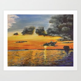 Storm clouds above Art Print