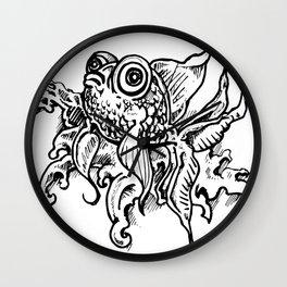 everyone loves goldfish Wall Clock