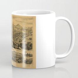 Bird's eye view of Healdsburg, California (1876) Coffee Mug