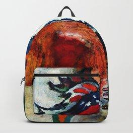 Orange Abstract Art / Surrealist Painting Backpack