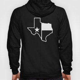 TX Texas State Flag Outline Hoody