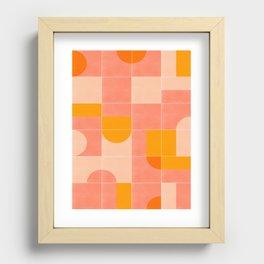 Retro Tiles 03 Recessed Framed Print