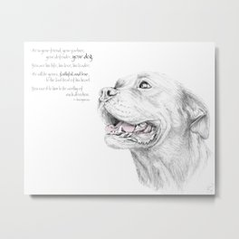 Murphy :: Loyalty [with Quote] Metal Print