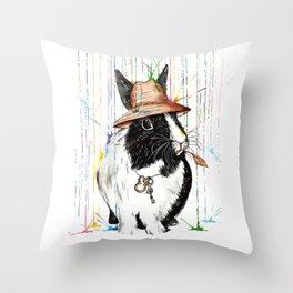 Oh Bunny Throw Pillow