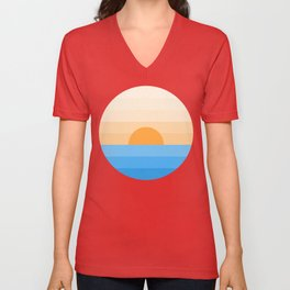 Sun goes down Unisex V-Neck