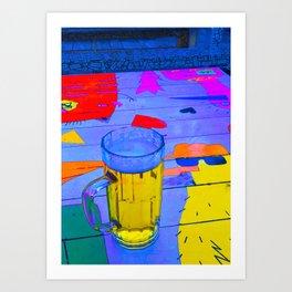 Beer in the aquarium Art Print