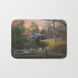 Winter Morning At Mabry Mill Bath Mat