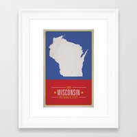 wisconsin Framed Art Prints featuring WISCONSIN by Matthew Justin Rupp