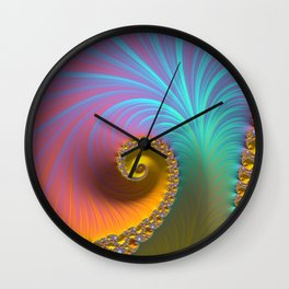 Kapow! - Fractal Art  Wall Clock