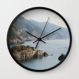 Cinque Terre Coastline Wall Clock
